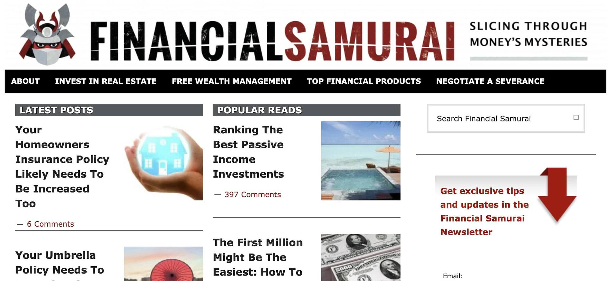 financial-samurai-website