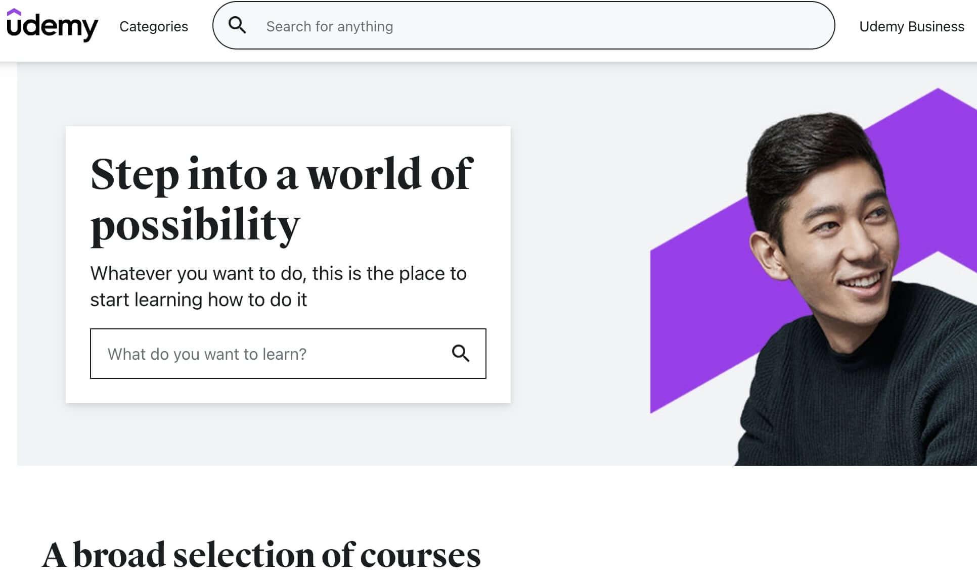 udemy-website